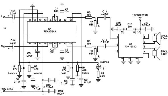 темброблока на TDA1524A и
