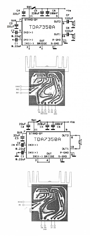 Усилитель на базе TDA7350A относится к усилителям класса АВ с фиксированным усилением.  В основном усилитель на базе...